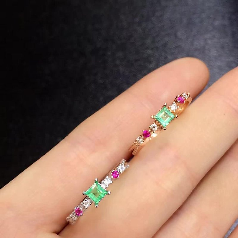 2017 Anillos Qi Xuan_Trendy Jewelry_Colombian Green Stone Fashion Rings_S925 Solid Silver Woman Rings_Factory Directly Sales 2017 Anillos Qi Xuan_Trendy Jewelry_Colombian Green Stone Fashion Rings_S925 Solid Silver Woman Rings_Factory Directly Sales