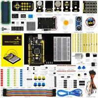 Keyestudio Updated Maker Starter Kit For Arduinos Starter Kit MEGA 2560 R3 User Manual 1602LCD Chassis