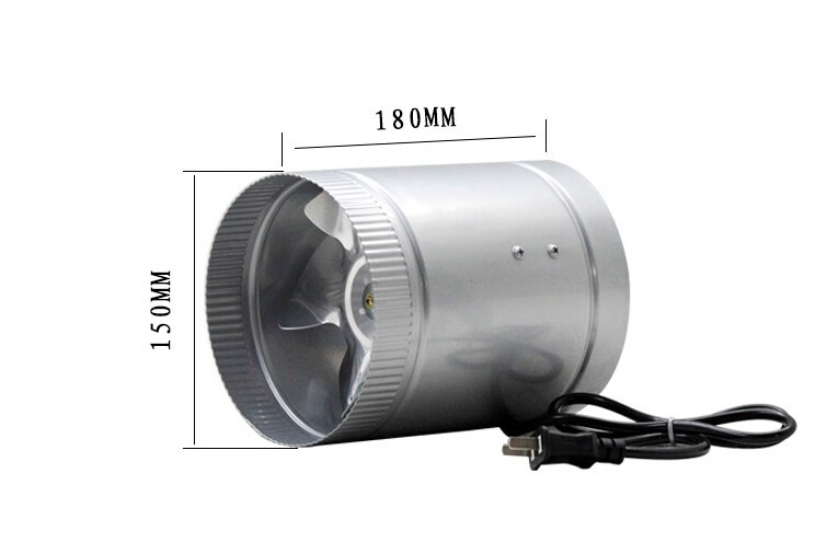 good working new for Small duct blower 6 inch bathroom exhaust fan 150mm Cooling Exhaust Blower for Home Grow Tent Room цена