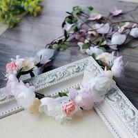 2017 Kobiety Ślubne Rose Flower Pałąk Rattan Party Floral Korona Korony Wieniec Garland Kwiat Akcesoria Do Włosów Kwiat Chluba
