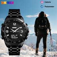 SKMEI Luxury Sport Men's Watch Dual Display Compass Alarm Calorie Calculation Men Clock Quartz Wristwatches relogio masculino