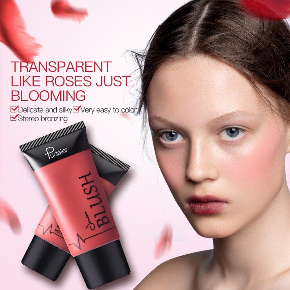 1PC Pink Decoration Blusher Liquid Stick Matte Nude Makeup Repair Blush Rouge Be