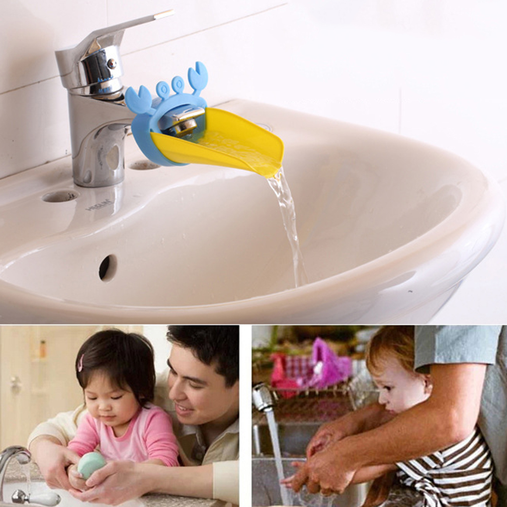 Tap Faucet Extender For Baby Washing Children Silicone Bathroom Sink Extending