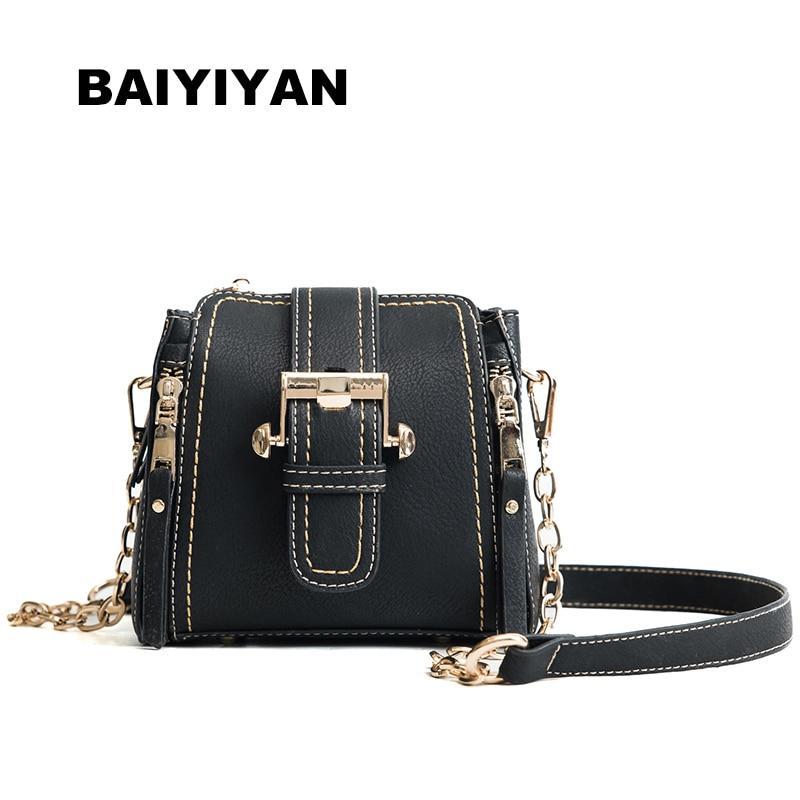 New arrival Vintage Metal Chain Bucket Bag PU Leather Luxury Handbag Women's Hasp Small Bag Retro Shoulder Bag