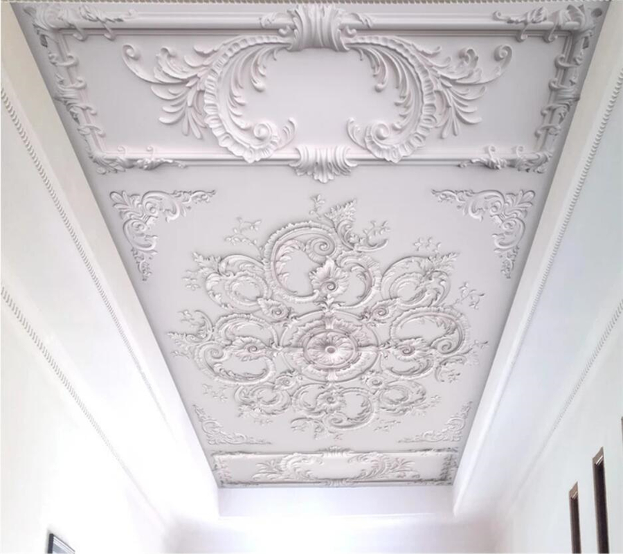 Beibehang Custom Wallpaper 3d Embossed European Pattern Plaster Line Carved TV Background Wall Paper Living Room Ceiling Mural