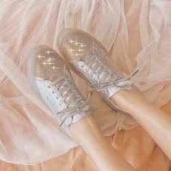 Новая женская обувь tenis feminino, модная женская повседневная обувь, украшенная кристаллами, на плоской подошве, женские кроссовки, удобная