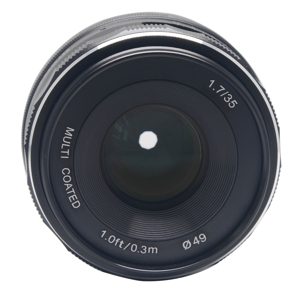Meike MK-35mm f1.7 large Aperture Manual Focus lens APS-C for Panasonic Lumix Olympus EM1 EM5 EM10 EP5 EPL3 EPL5 EPL6 цена