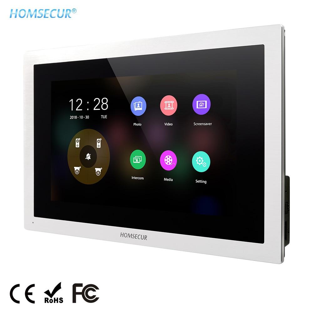 """HOMSECUR BM114HD-S moniteur DE visiophone 10 """"avec écran tactile (langues DE Menu EN/RU/FR/DE/PL/UA réglables) pour la série HDK"""
