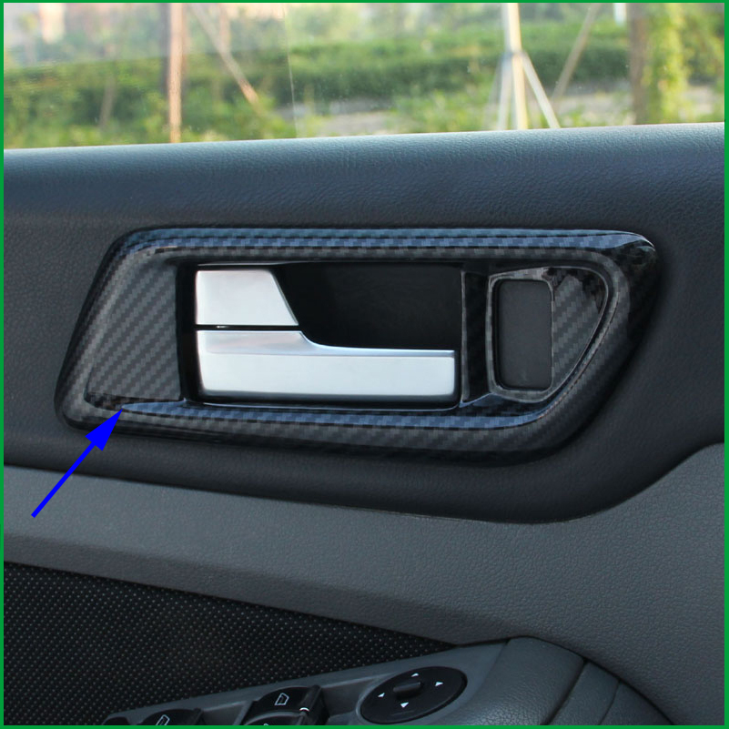 For Ford Focus MK2 2009 2010 2011 Interior Door Handle Bowl Frame Cover Sticker Sequins Trim Auto Parts Car styling Accessories