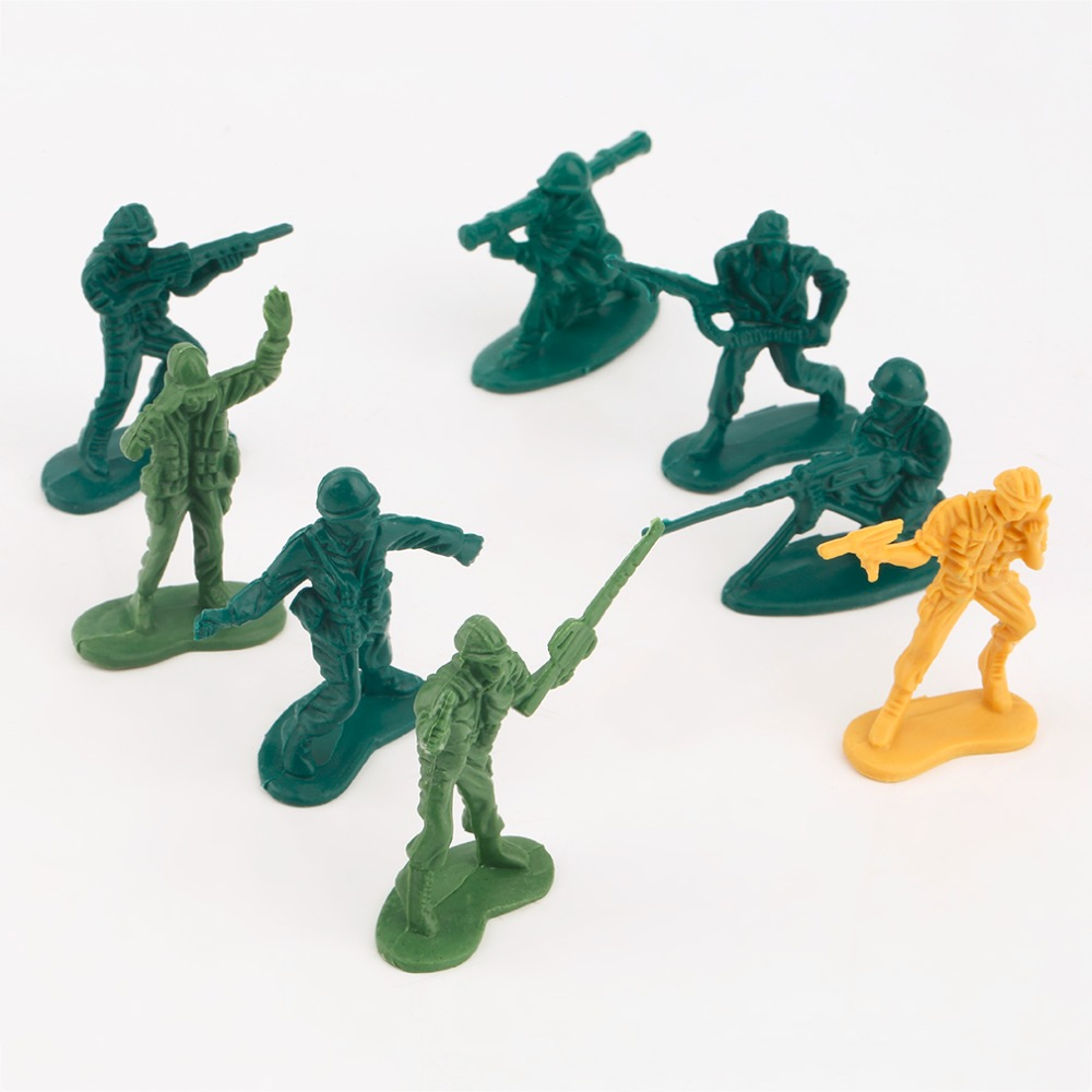 Hot 3sets Mini Plastic Green Army Men Soldiers Model Party Root Bag Filler Toys Good New