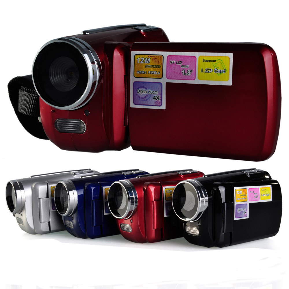 Newly used 1.8 inch LCD Screen Mini Digital Video Cameras 12MP 4 x Zoom Camcorder   Video Camera DV DVR GIFT