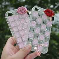 New Luxury 3D Bling Crystal Rhinestone Mobile Phone Shell For Iphone4 4S 5 5S SE 6