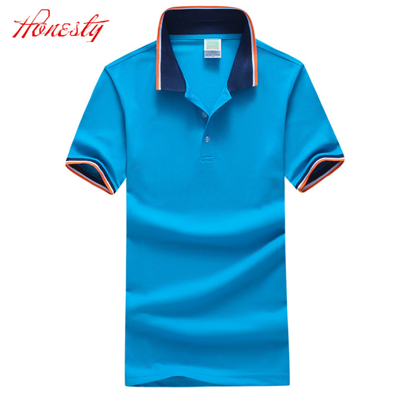 Men Polo Shirts Summer Short Sleeve Casual Cotton Slim Fit Business Dress Polo Shirt Brand Big Size Shirts Chemise Homme F2088