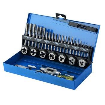 Juego de rosca métrica 32 en 1, enchufes de rosca, herramientas de segadora cónica rectas, llave inglesa para reparación de coches, grifos ajustables