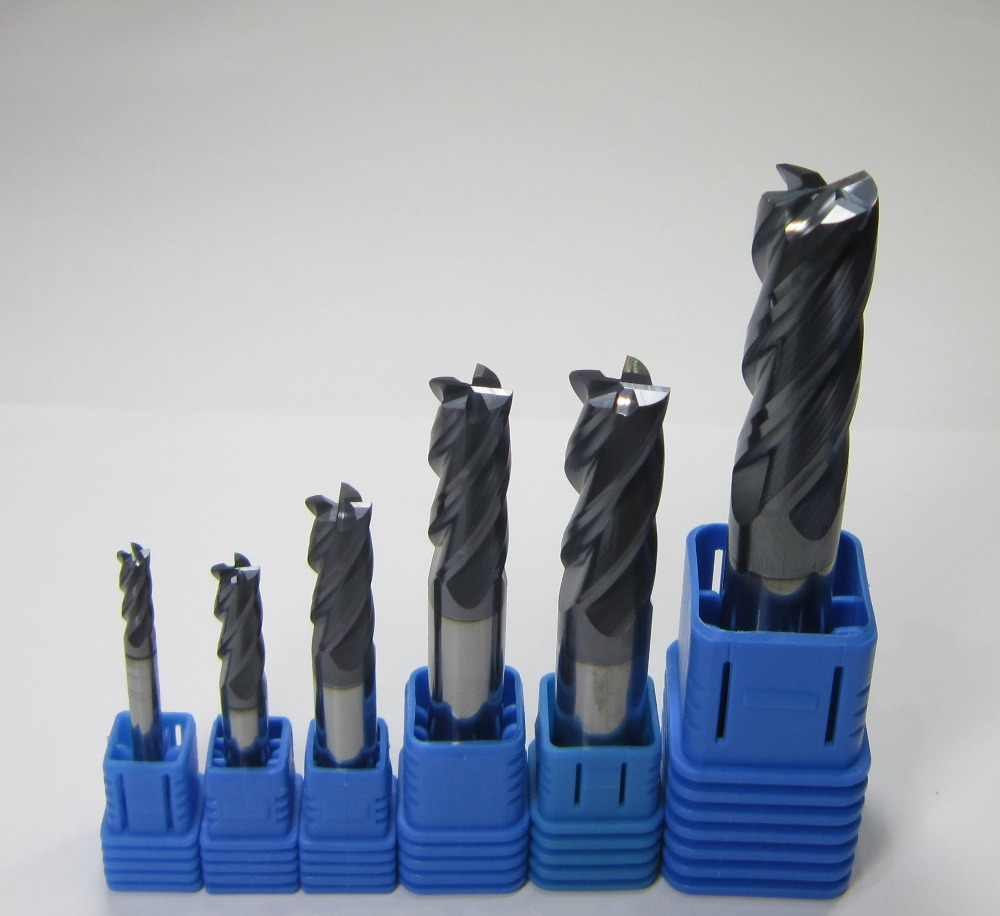 Ø 12mm 2 flutes HRC45 Carbide Flat End Mills milling cutter for aluminum 45HRC