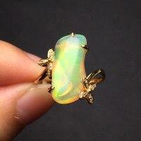 Gemme 3.85ct oro 2.02g anello reale 18 K Gold Top del grado naturale opal anello per le donne gioielli multa anelli