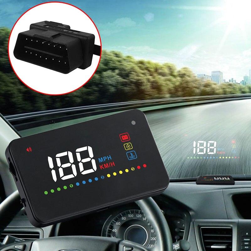 Универсальный автомобильный HUD gps скоростной метр с цифровым дисплеем на оповещение о скорости лобового стекла Projetor Автоматическая навигация