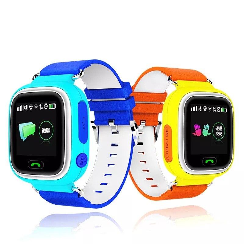 imágenes para Niño Q90 Pantalla Táctil WIFI Inteligente bebé Reloj Localizador Dispositivo GPS Tracker reloj para Niños Anti Perdido Monitor PK Q80 Q60 Q50