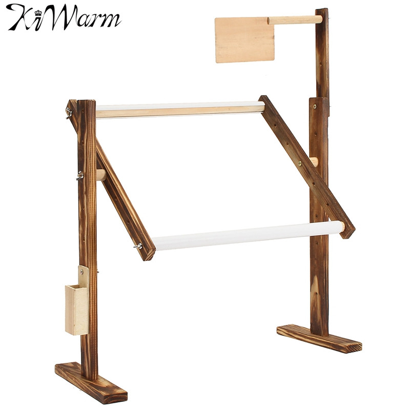 1 Set Solid Wood Cross Stitch Rack Wooden Stand Desktop Cross Stitch Embroidery Frame Chinese ...