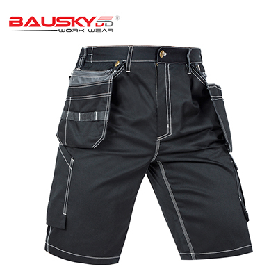 New High quality men's summer work short workwear multi pockets short work pant work short trousers free shipping 2