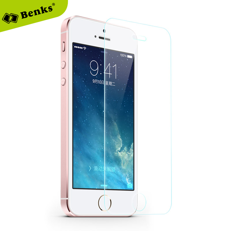 bilder für Benks marke 9 h 0,2mm dünne hartglas film für iphone 5 5 s 5c displayschutzfolie explosionsgeschützte schutz film für iphone5