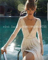 5 ярдов ysl007 хорошее качество offwhite блесток Мода чистая тюль сетка кружева для свадьбы/вечернее платье/Haute Couture