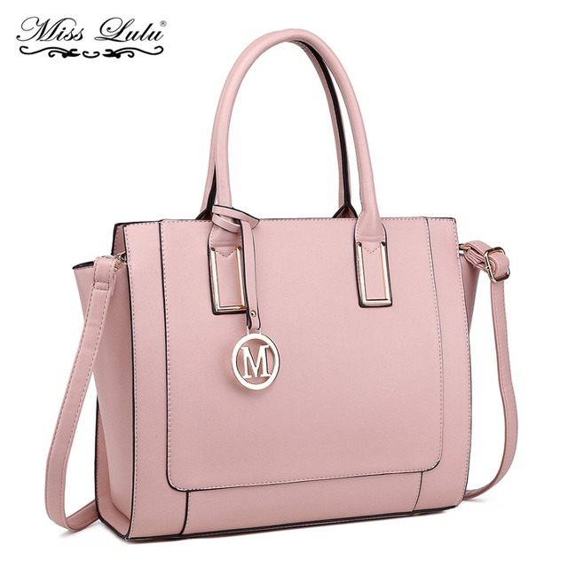 Miss Lulu Women Handbags Leather Shoulder Bags Female Large Capacity Casual  Tote Bag M Logo Purses And Handbags Sac Femme LT1736 866206eed22c9