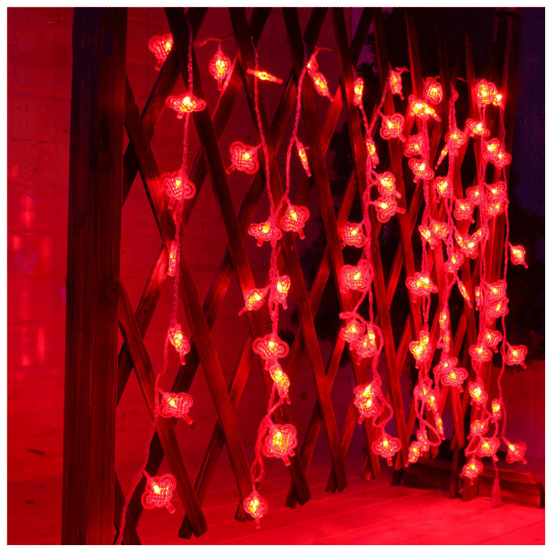 Hi-Lumix Solar 9.5M 50 leds Chinese Knot Fairy string light waterproof Indoor/Outdoor decoration New Year,Garden,Holiday
