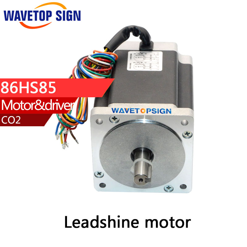 Leadshine 2phase Stepper Motor 86HS85 2phase Step Motor Laser Engraving Machine cnc Router leadshine 2 phase stepping motor drive ma860h for laser engraving cutting machine stepper motor driver
