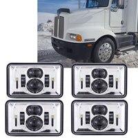For Kenworth T800 T400 T600 W900B W900L Classic 120/132 HK Classic 4x6 12V 24V LED Truck Headlights Projector Headlamps