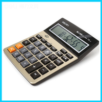 Voice Calculator 1542A Office Business Student Computer 12 Digit Large Screenbutton Multifunction Calculator LED Screen Material