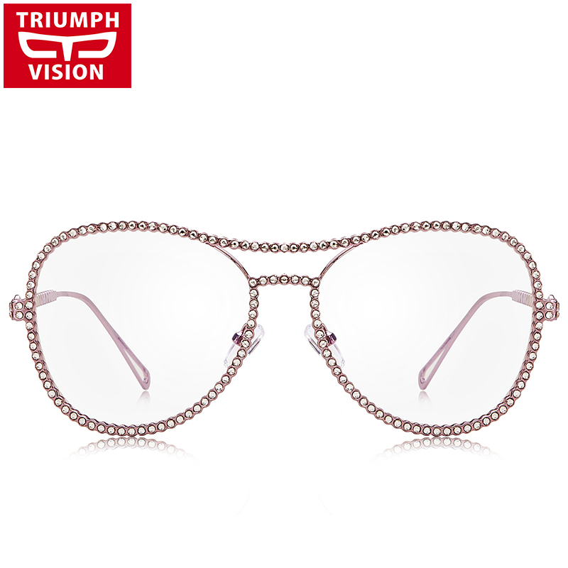 TRIUMPH VISION Pink Glasses Frame Women No աստիճանի - Հագուստի պարագաներ - Լուսանկար 2