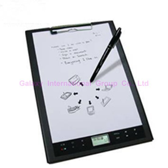 Digital notebook graphics tablet audio recorder MP3 player with handwriting recognition