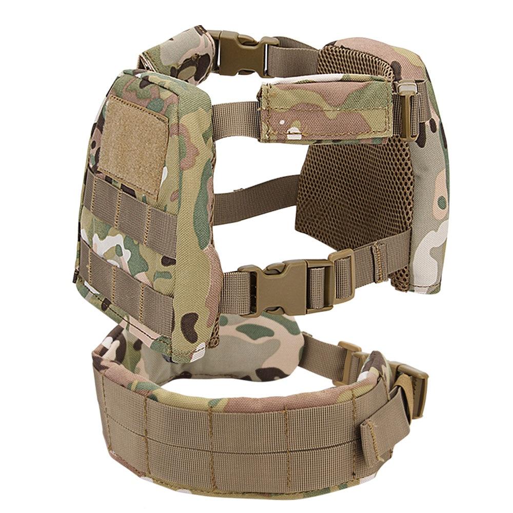 Kids Mini Airsoft Tactical Vest with Patrol Belt Molle Combat Vest XS S CP Mulitcam