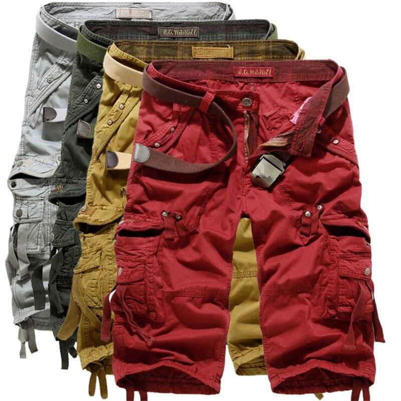 Military Cargo Shorts Men 2018 Summer Camouflage Pure Cotton Brand Clothing Comfortable Men Tactical Camo Cargo Shorts Plus Size