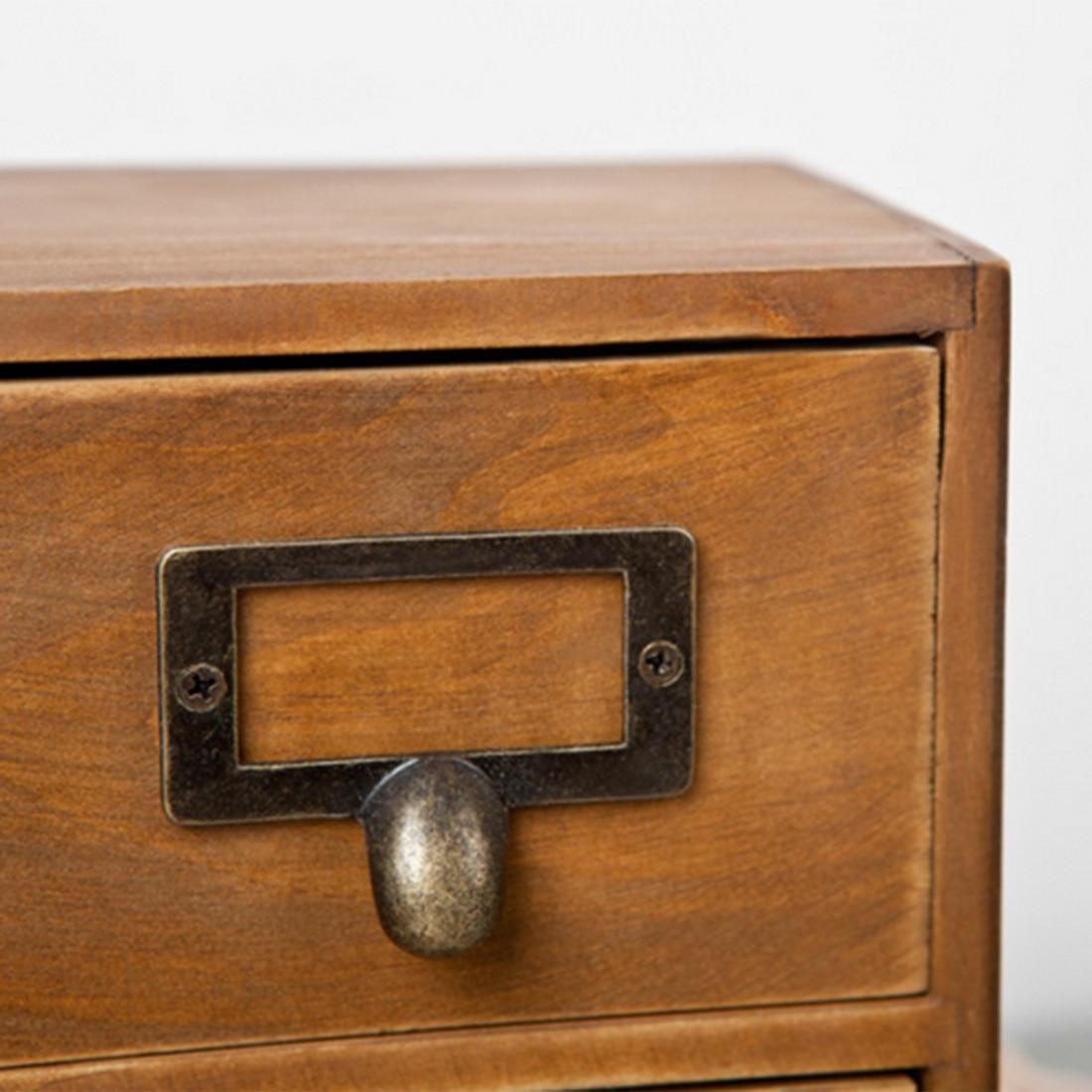 HIPSTEEN Retro Design Household Essentials 3 Level 3 Drawer Wooden