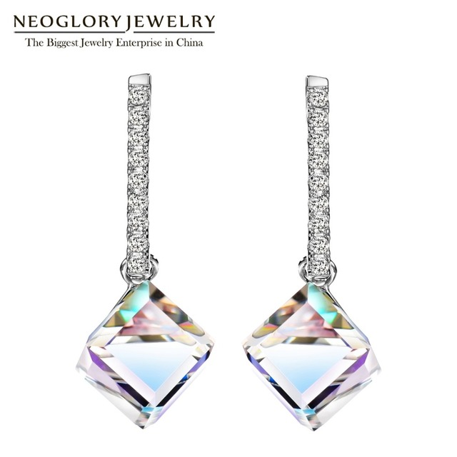 Neoglory Fashion Long Big Square Dangle Earrings for Women 2019 Hot New  Jewelry Embellished with Crystals from Swarovski 817dacb5e8e7