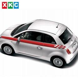 Наклейки для стайлинга автомобилей с динамической сеткой на талии, бонусы, цветные наклейки для автомобиля FIAT 500 Bravo Palio