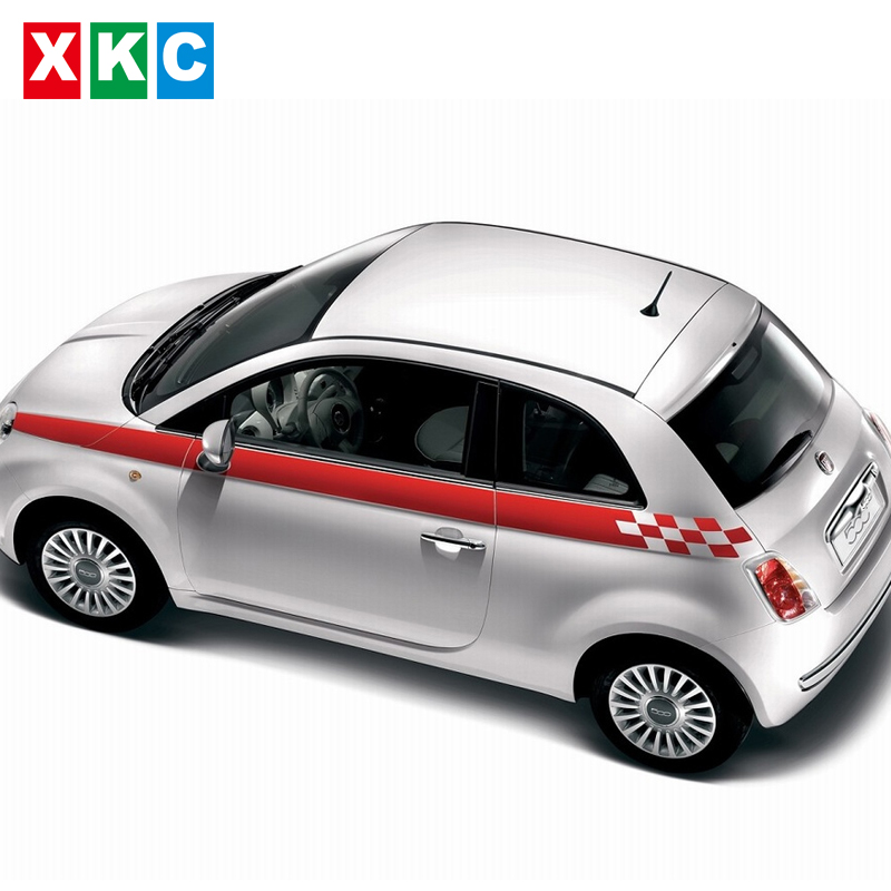 Car Styling Stickers Dynamic Grid Waist Pull Bonuses Color Bar Car Stickers For FIAT 500 Bravo Palio