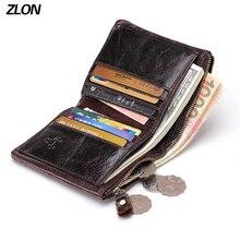 Echtes brieftasche Reißverschluss Geldbeutel