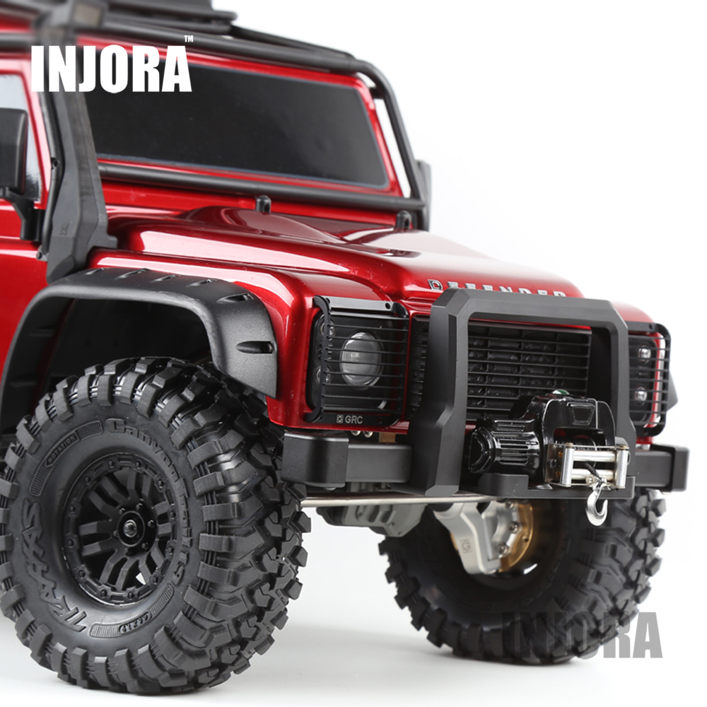 TRX4 Metal Front Bumper for 1:10 RC Crawler Traxxas TRX-4 TRX 4 Upgrade Car Parts metal front bumper for 1 10 traxxas trx4 d110 rc crawler car part