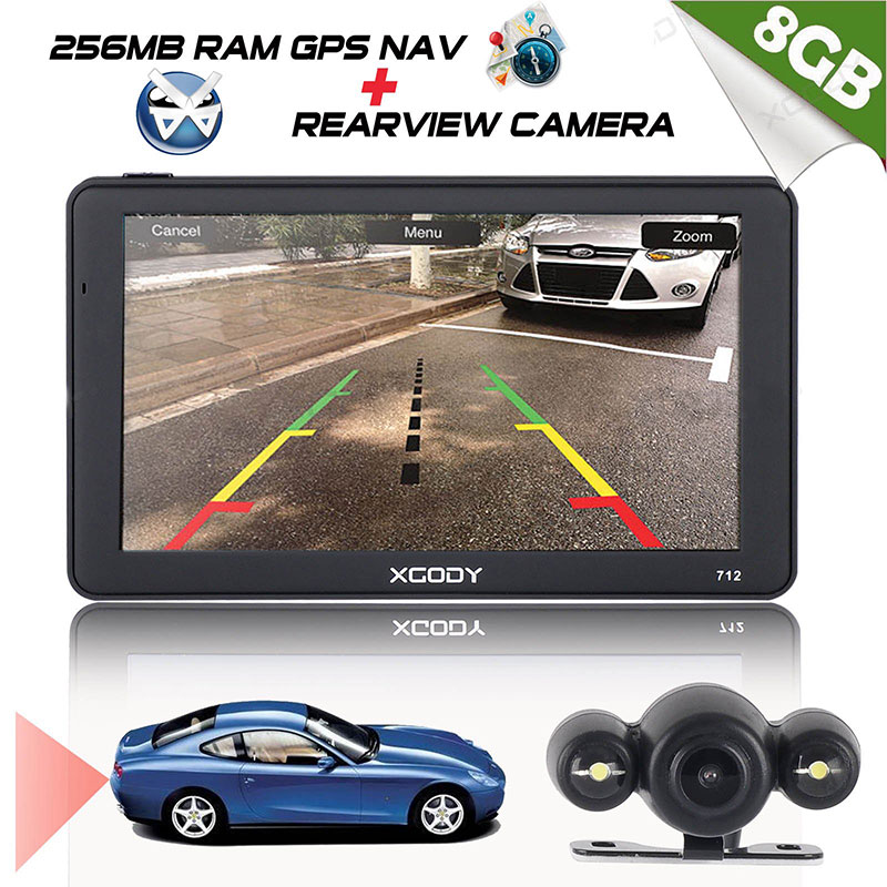 Xgody Rear-View-Camera Car-Navigator Gps Truck Bluetooth 7inch Russia 712 Maps