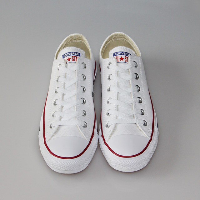 converse canvas or leather