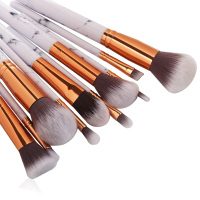 MAANGE 10pcs Marble Professional Makeup Brushes Eyeshadow Foundation Blending Brush Set With Cosmetic Brush Bag Beauty