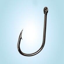 100 Pcs Barbed Fishhooks High Carbon Steel Carbon Black Bait Holder Fish Hook Fishing Hooks 4# 5# 6# 7# 8# 10# 12#