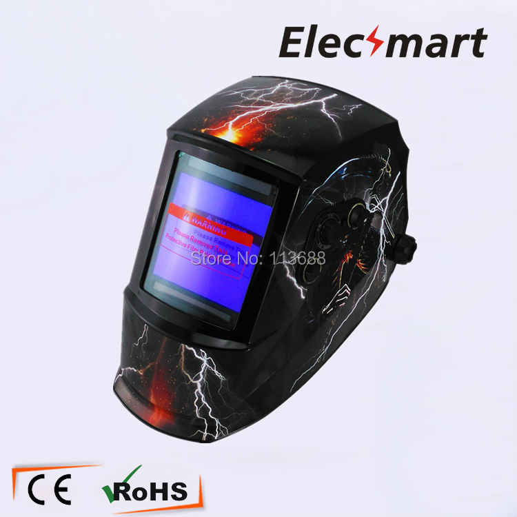 Better view Auto darkening welding helmet TIG MIG MMA electric welding mask/helmet/welder cap/lens for welding fire flames auto darkening solar powered welder stepless adjust mask skull lens for welding helmet tools machine free shipping