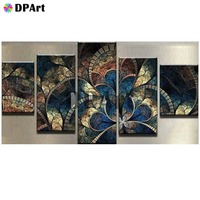 5PCS Diamond Painting 5D Full Square/Round Drill Mandala Fractal Patters Daimond Embroidery Painting Cross Stitch Mosaic M848
