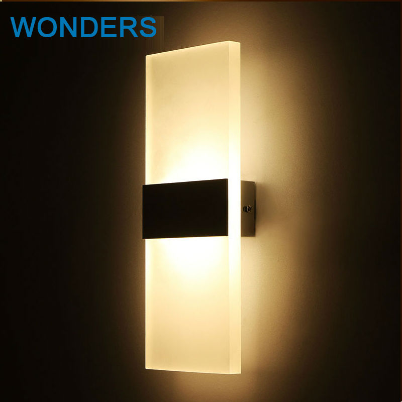 Modern Led Wall Lamps Acrylic Bed Room rectangular Wall light Living Sitting Room Foyer Bathroom