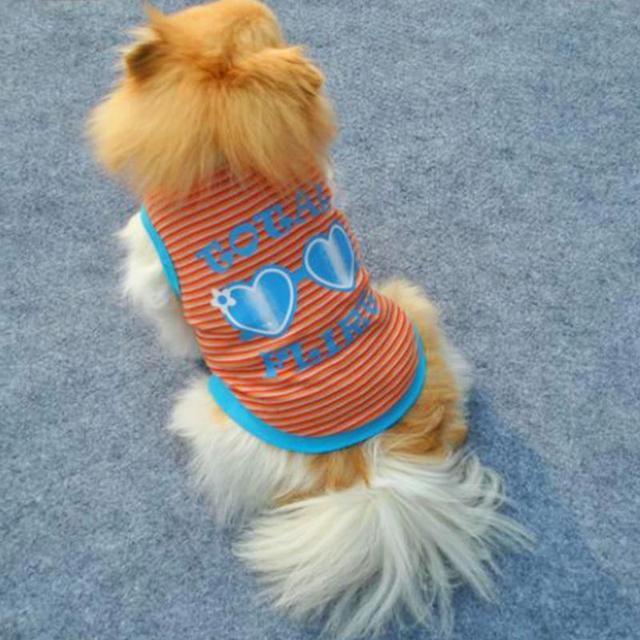 Fashion Cotton+Polyester Pet Glasses Vest T-Shirt Dog Coat Puppy Soft Clothes Apparel Jacket Costume Size XS-L