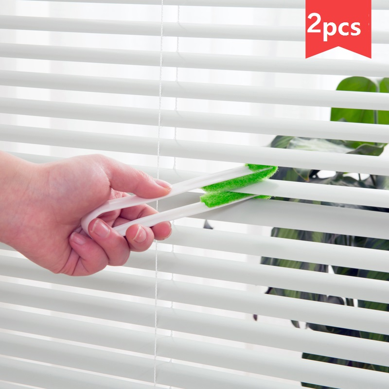 Curtain Blinds Cleaning Brush Kitchen Dust Brush Home Air Conditioner Fan Page Mini Soft Brush 2 pcs/set